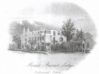 Mount Ararat House etching by T.F.Darrall